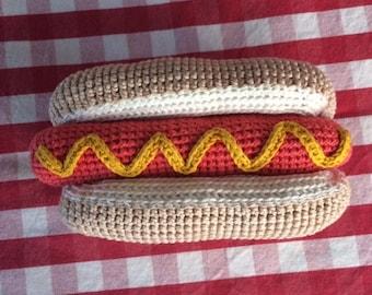 Hotdog in crochet