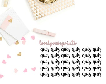 Quiz Functional Planner Stickers