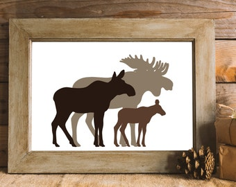 Moose Wall Decor moose wall art | etsy