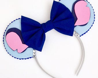 The Blue Alien - Handmade Lilo & Stitch Inspired Mouse Ears Headband