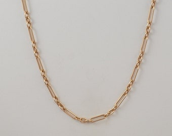 9k Rose Gold Chain Link Necklace 6.8 Grams 16""