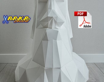 Moai Rapanui Sculpture Statue, Easter Island, DIY PDO (Pepakura) + PDF template