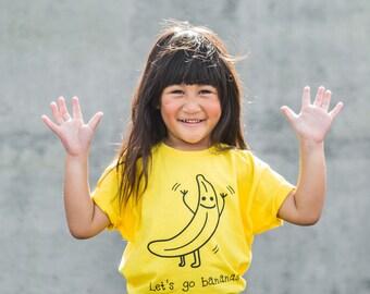 Kids banana Shirt, Children shirt, Let's go bananas shirt, toddler shirt, kids gift, crazy kids shirt, banana shirt, funny fruit shirt, tee