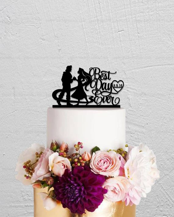 cinderella carriage wedding cake toppers wedding cake topperrapunzel cake topperlong hair princess 12851