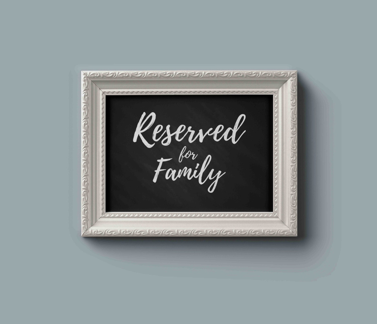 a9e78901d641af Reserved for family sign   Reserved seating sign   Wedding Table sign    Wedding Seating Chart