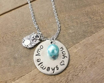 Owl Always Love You Necklace - Owl Jewelry - Gift For Her - Mother's Day Mom Gift