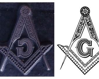 masonic inspired printing stamp