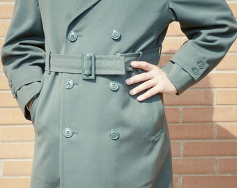 Vintage Vietnam War U.S. Army AG-44 Trench Coat w/ Liner Size 34S