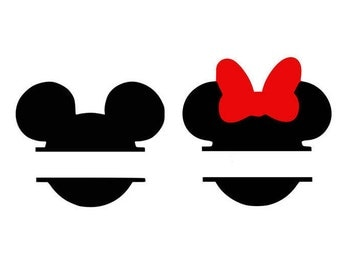 Mickey monogram svg, Minnie monogram, Disney svg, cartoon svg, Disneyland, mickey mouse svg, dxf, cricut, silhouette cutting file, download