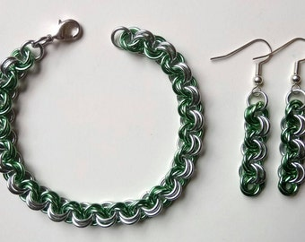 Pastel Green Earring and Bracelet Set