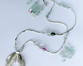 POSITIVITY FLOW NECKLACE - Karen Hill Tribe Silver - Fluorite beads
