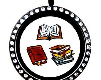 Books Floating Charms