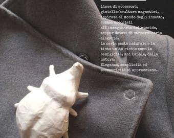Rhinoceros beetle-magnetic accessory