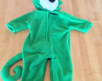 Pascal inspired child's chameleon lizard costume
