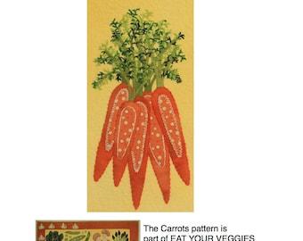 Carrots - part of the Eat Your Veggies Wool Applique Quilt