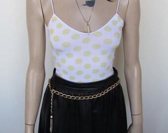 Midi, Black Leather Skirt - Size 8-10