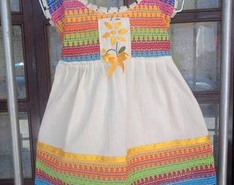Vestido para bebé bordado, baby dress