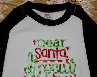 Dear Santa, I really did try! Shirt