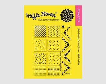 Mini Patterns Planner Stamp - Waffle Flower Planner Stamp