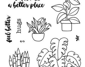 Plants Clear Stamps - Jane's Doodles