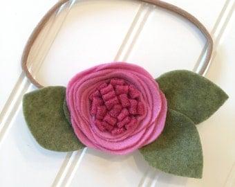 Felt flower headband/ felt flower/ handmade felt flower headband