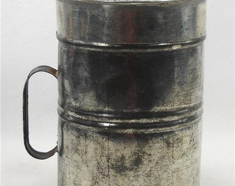 Rustic Tin Canister with Lid