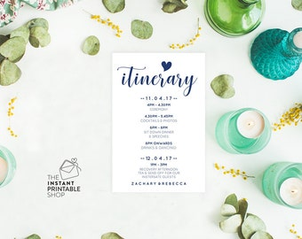 Disney world planning printable itinerary template itinerary template wedding itinerary cards printable itinerary card editable pdf instant download pronofoot35fo Choice Image