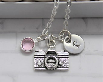 Camera Necklace - Personalized - Photographer Gifts - Photography Necklace - Camera Charm - Videographer