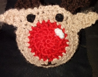 Crochet Rudolph Bauble
