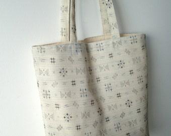 Wool tote bag, Japanese vintage fabric bag, Eco friendly bag, Handmade canvas bag, Book bag