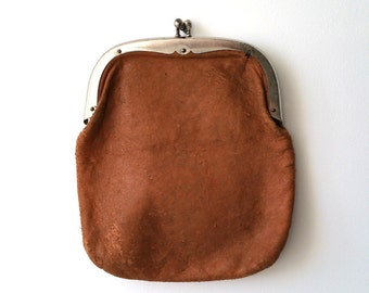 Beautiful old fashion leather wallet 'knip'