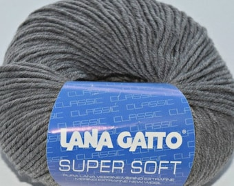Supersoft Med. Grey#20742 merino wool worsted yarn