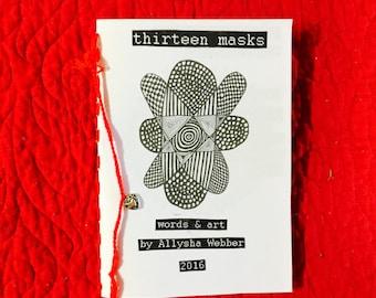 Poetry/Art Zine - thirteen masks