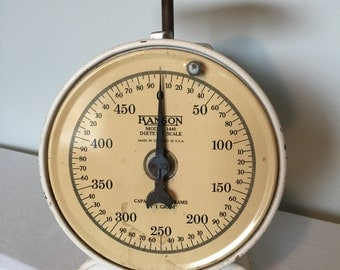 Vintage Hanson Model 1440 Dietetic Scale Made in Chicago 22 U.S.A. - Works!