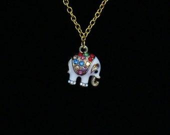 White Elephant Necklace