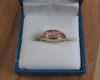 Vintage Clogau 9ct Welsh Rose & Yellow Gold Queen Eleanor Ring - Contains a touch of real Welsh gold