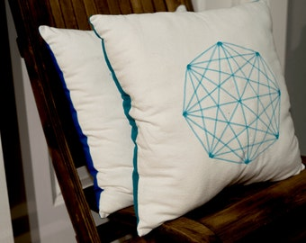 Octagon Sacred Geometry Throw Pillow