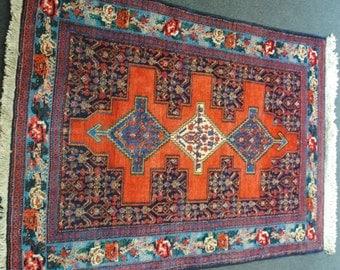 Persian rug authentic origin Senneh size 153cmx110cm
