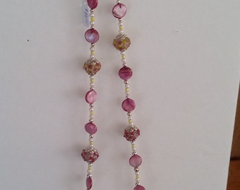 Pink Emily 20 in.  Necklace