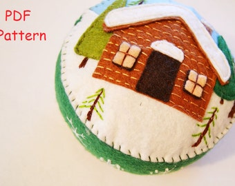 Pdf pattern felt pincushion pattern pdf  Pincushions patterns needle bed  PDF Pattern