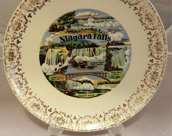 Large Vintage Niagara Falls Souvenir plate.