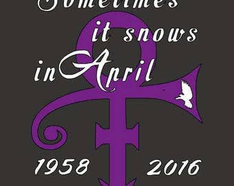Prince, Sometimes it Snows in April Decal