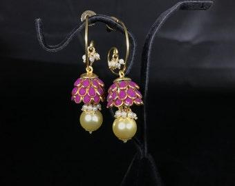 Jhumki Jhumka Earrings - Small Earrings - Indian Earrings - Pakistani Earrings -