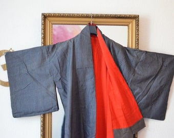 a red surprise - vintage kimono from kyoto, japan