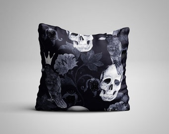 Skull and Crows Cushion.
