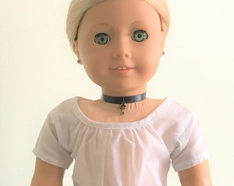 Choker Necklace with a Key for American Girl Doll