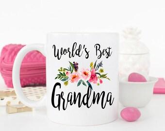 Worlds best Grandma mug, gift for Grandma, best grandma ever, Grandma mug, best grandma, grandma birthday gift, New Grandma gift