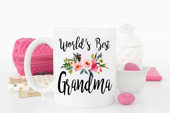 Worlds Best Grandma Mug Gift For Ever