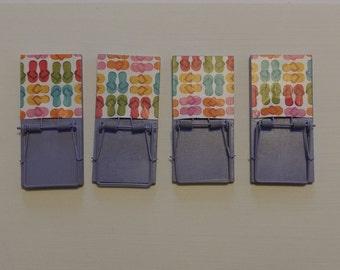 Sandals Mousetrap Magnets - Set of 4