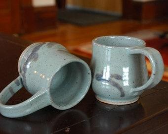 Pair of Ceramic Mugs // Pottery Coffee Mugs // Handmade Mugs